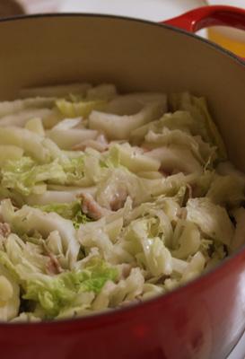 白菜と豚肉のシンプル鍋