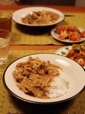 鶏肉と根菜の豆乳カレー