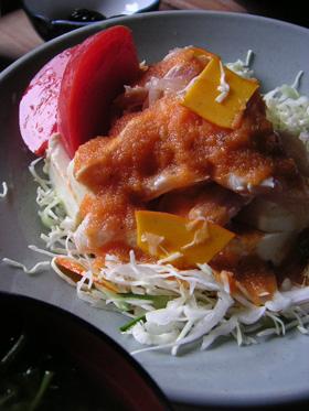 豆腐とささみのサラダ