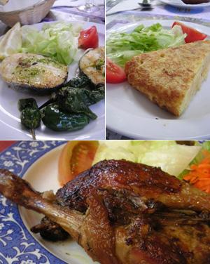 スペインの定食