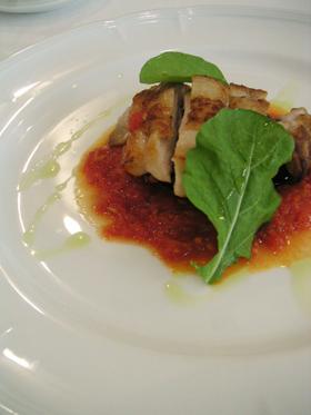 鶏のソテーアラビアータソース